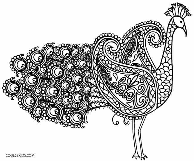 printable kaleidoscope coloring pages for kids cool2bkids - Coloring Pages Animals Printable