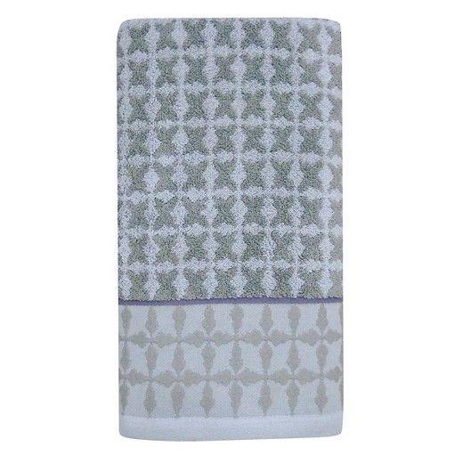 Bath Towel Tile Grey & Purple - Threshold : Target | Bath ...