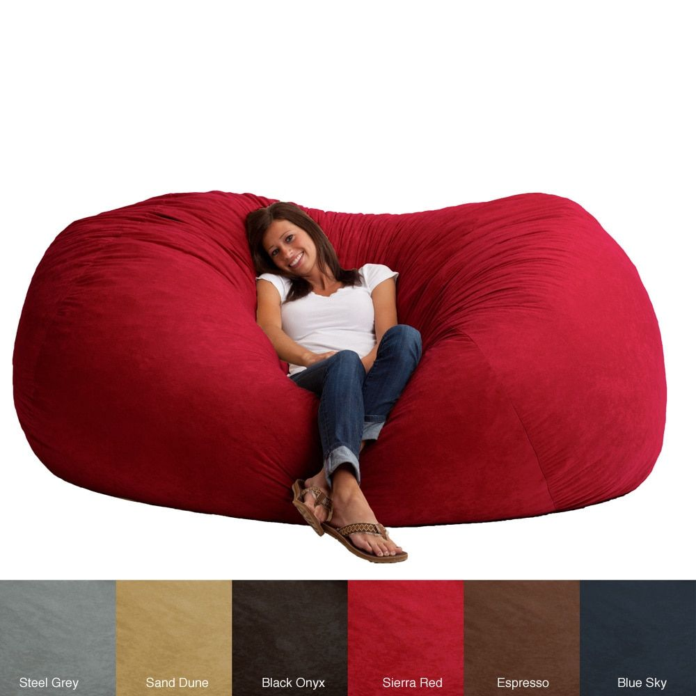 Fufsack memory foam microfiber foot xxl bean bag chair colorful