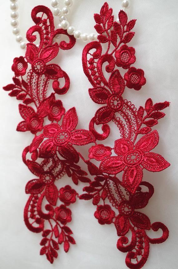 ivory lace applique by pairs, venice lace applique, bridal lace applique #dollunderware