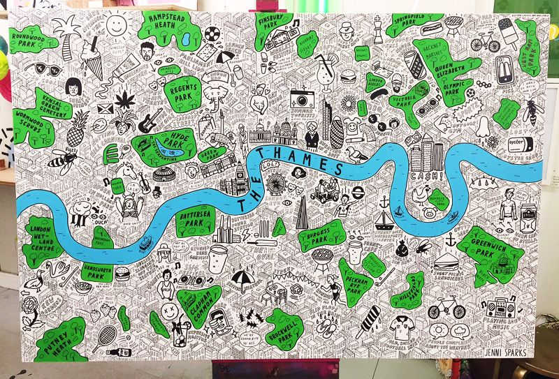 Map Of London Centre.Pin By Jenni Sparks On Maps London Map London Summer Map