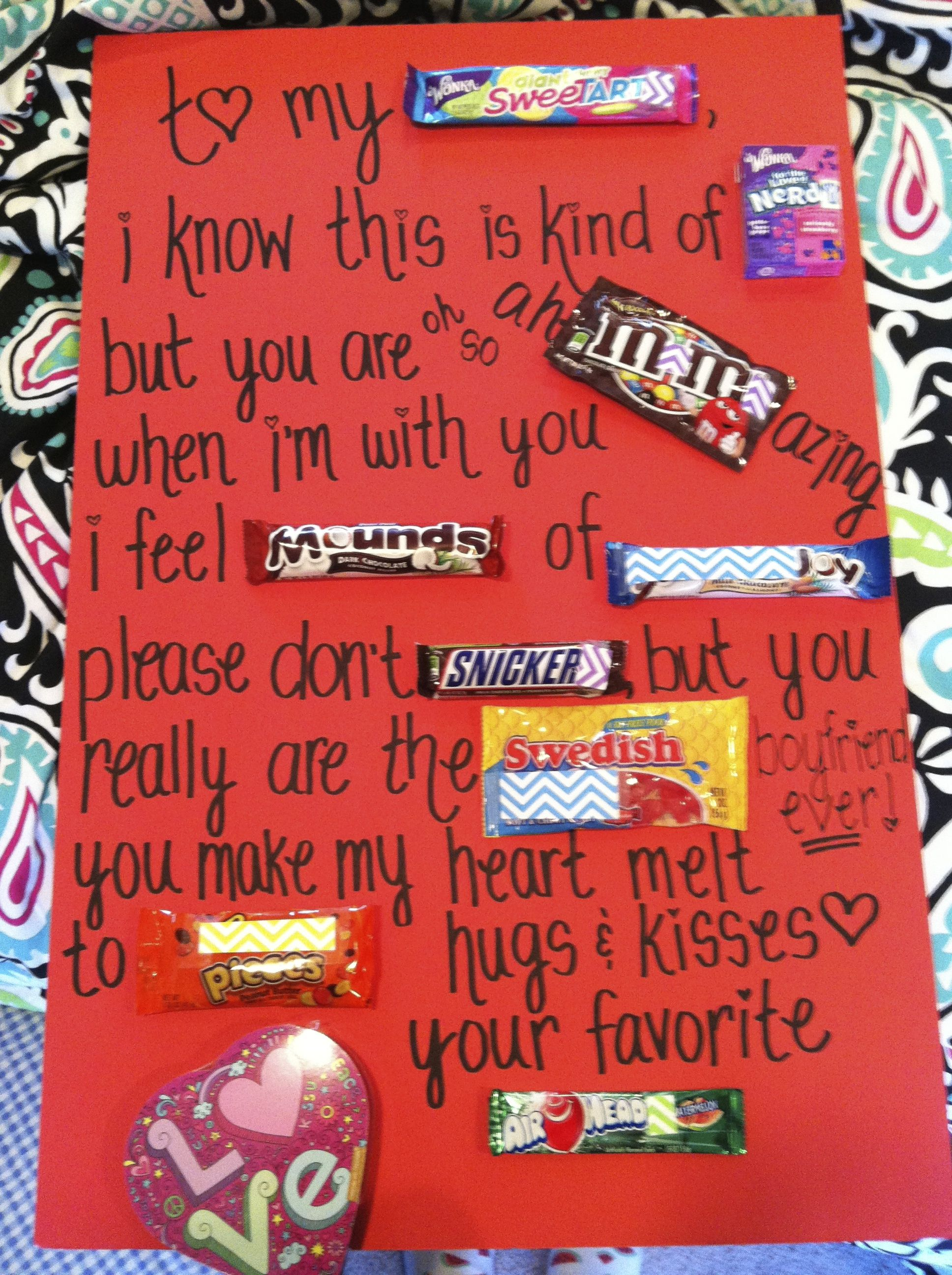 Valentine's Candy Message Card (total cost: $11) | Candy ...