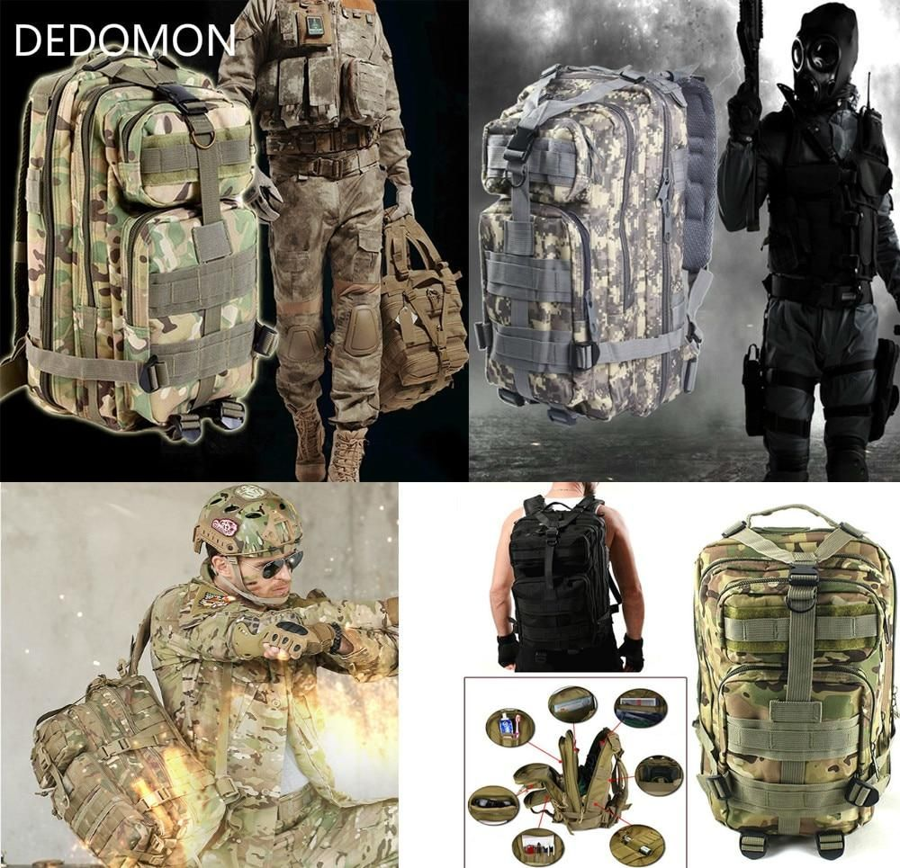 Molle Outdoor Sports Military Tactical Bag Camping Hiking 30 L Trekking Backpack