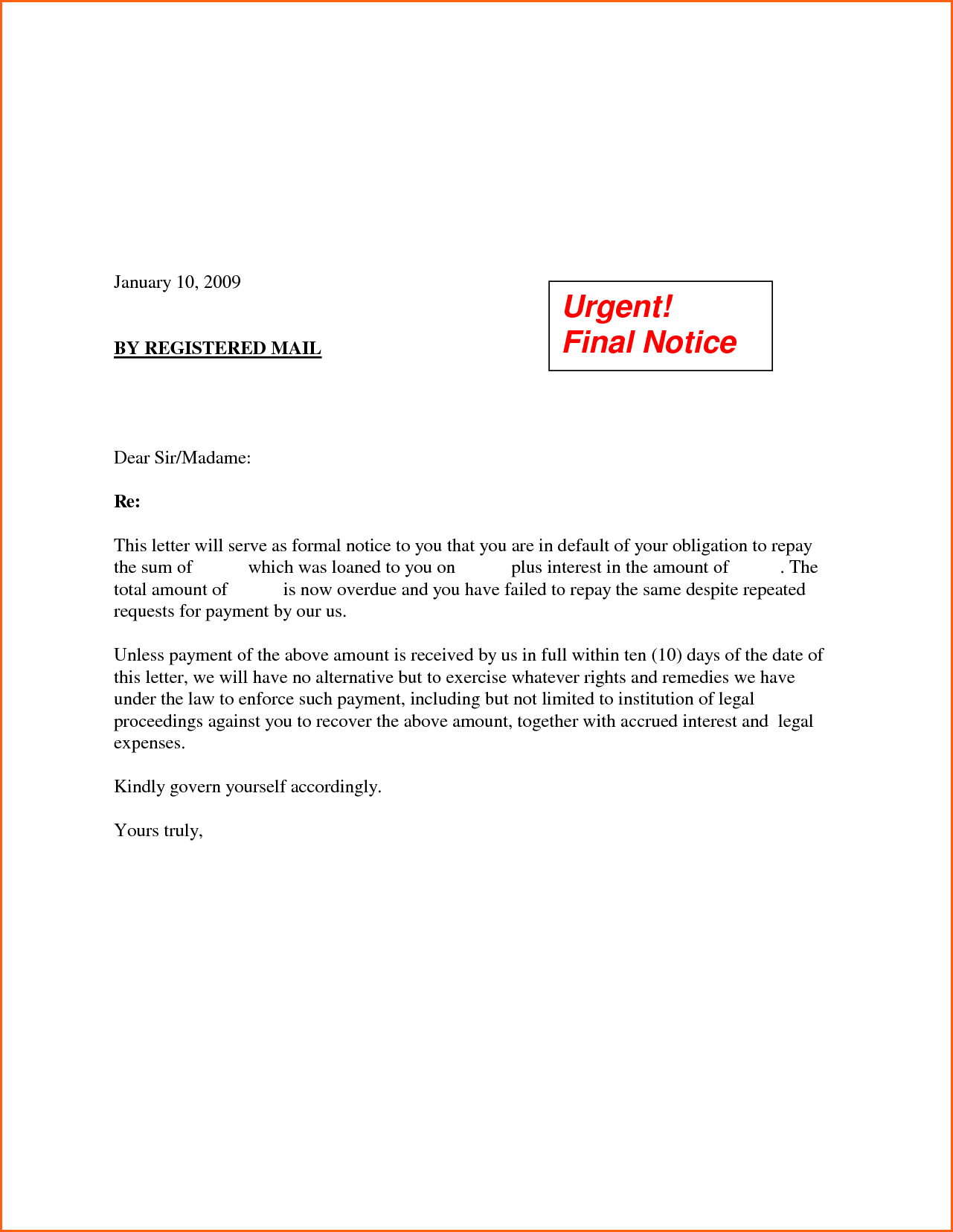 Certification Letter Request Sample Full Payment Agreement
