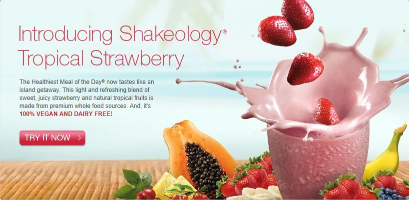 The new Tropical Strawberry Shakeology is Vegan, dairy