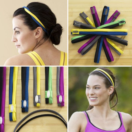 Gaiam Double Headband: Keep your hair in place and feel good about doing something for Mother Earth with this Gaiam Double Headband ($16, on sale) made of 86 percent recycled polyester. It comes in an array of bright, Springy hues to add a splash of color to your exercise outfit.