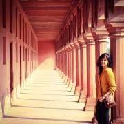 Shirley Setia at a beautiful architecture