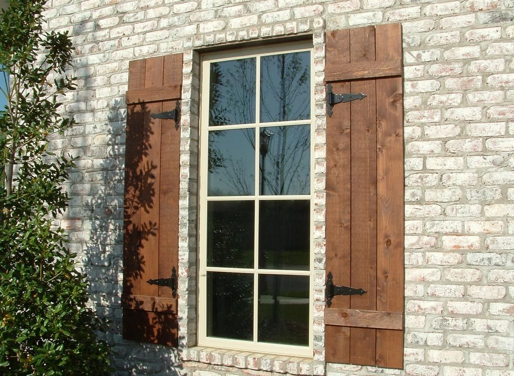 Decorative outdoor shutters photos h2 hamm shutters son llc fort smith ar 72903 How to make exterior shutters