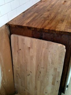Darkening The Butcherblock Countertops W Dark Tung Oil