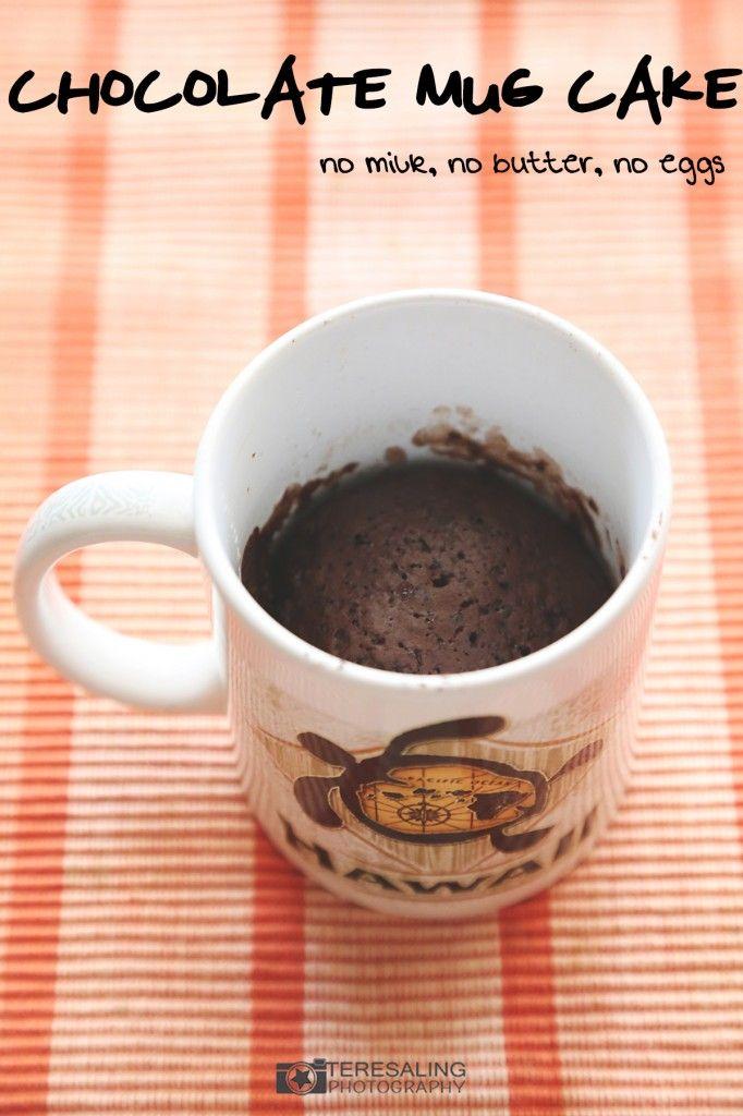 Recipe: Chocolate mug cake (no milk, no butter, no eggs ...