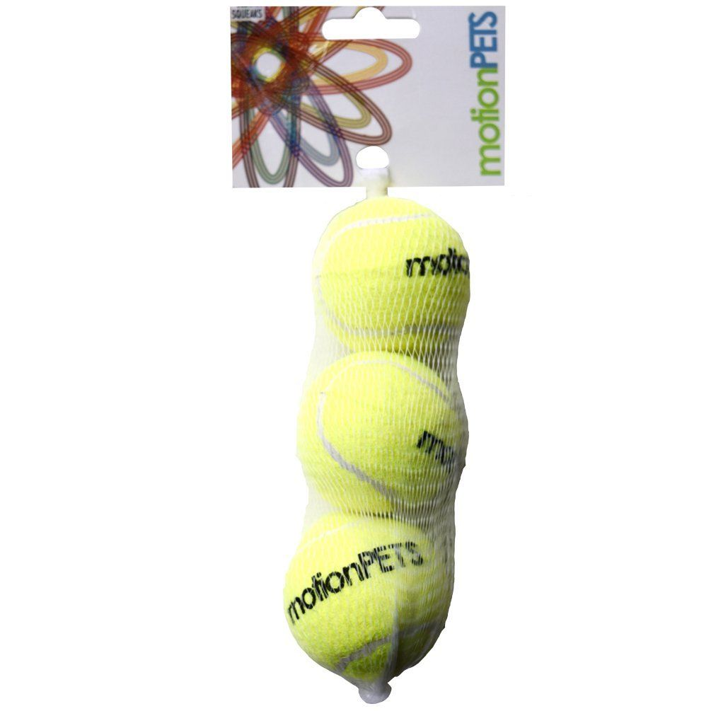 Motionpets sqb squeaky tennis balls for dogs puppies medium