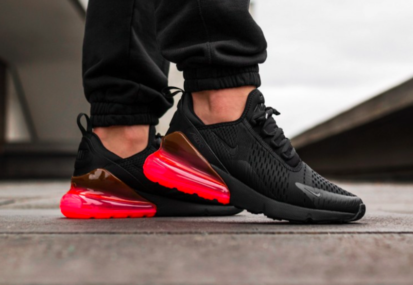 pretty nice af7b0 020be The Nike Air Max 270 Hot Punch (Style Code: AH8050-010) feature a Black  upper highlighted with Hot Punch Air Max heel unit. A release date and  pricing is