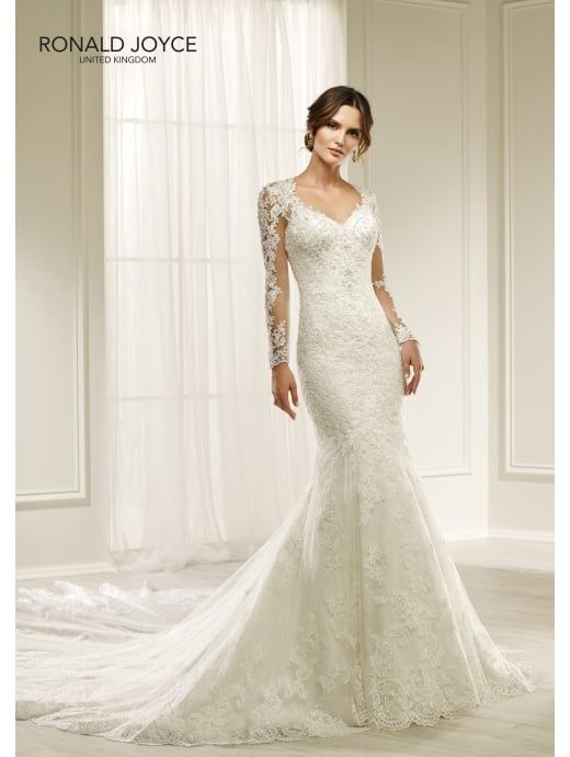 2aad58f7 Ronald Joyce 69217 HILARIA Beautiful Lace Slim Fitting Wedding Dress ...