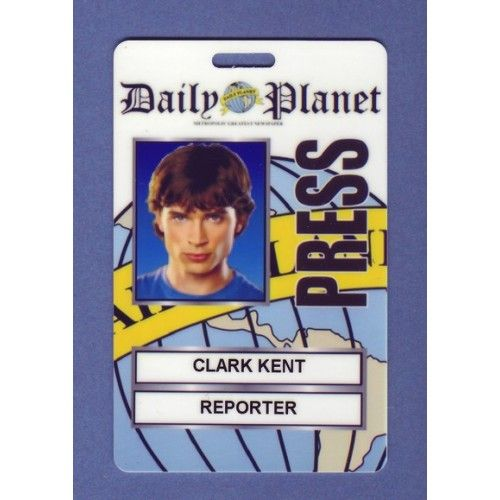 Clark Kent Costume ID Card From the Identity Props Store Cosplay - id card template