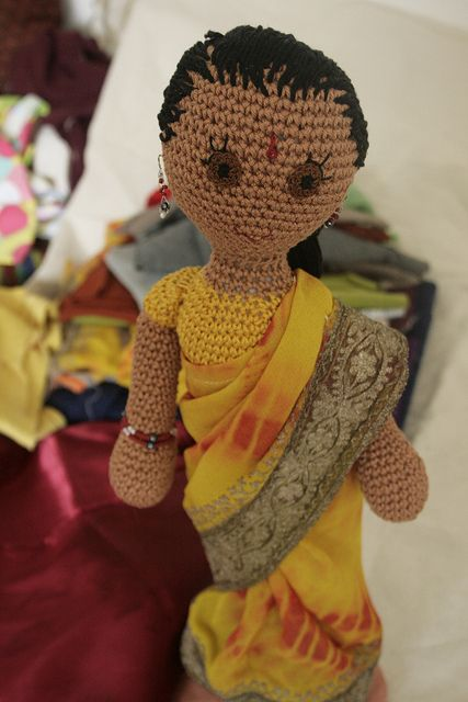 CROCHET - DOLL / POUPEE / POPJE - ms india full by Snowfaerie, via Flickr
