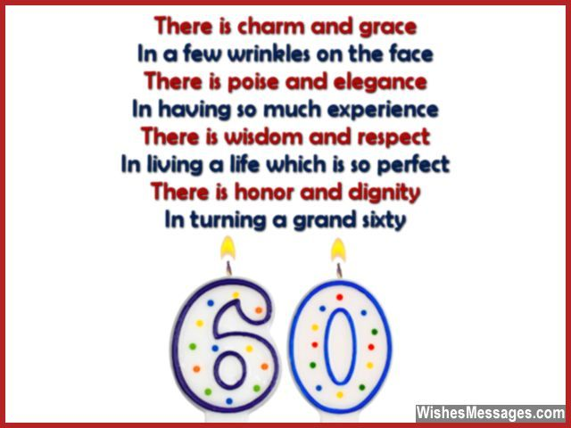 Beautiful sixtieth birthday greeting for dad and mom – Birthday Greeting Poems