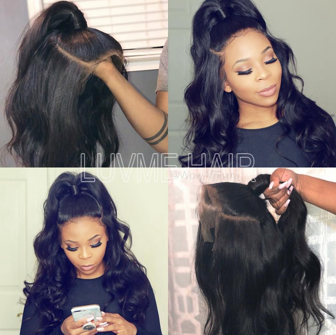 Pre Bleached Knots Best Virgin Human Hair Full Lace Wig  Wig