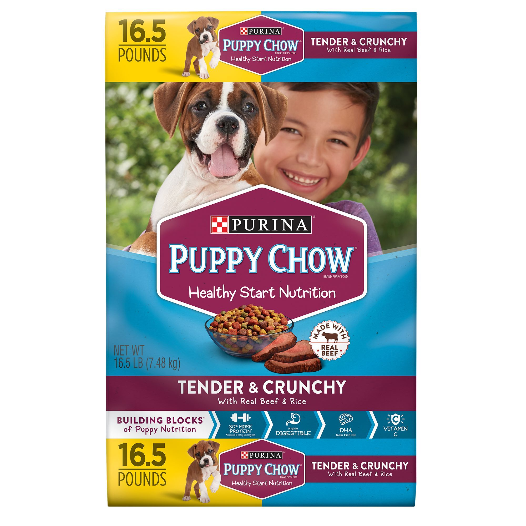 Purina Puppy Chow Healthy Morsels Puppy Food Size 16 5 Lb Purina