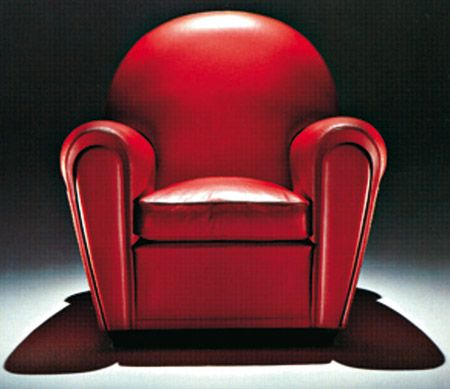 Vanity Fair Leather Armchair - 1930 - Design by Renzo Frau - Art ...