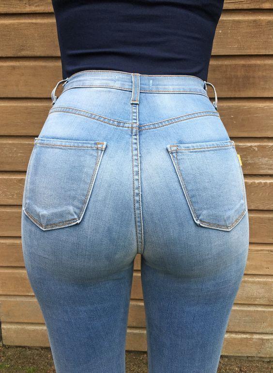 high waist jeans porn
