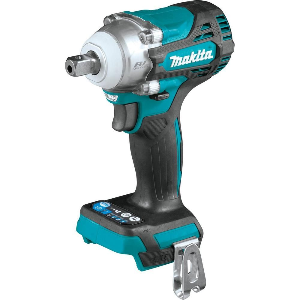Makita 18 Volt Lxt Lithium Ion Brushless Cordless 4 Speed 1 2 In Impact Wrench With Detent Anvil Tool Only Xwt15z The Home Depot Impact Driver Driver Tool Makita