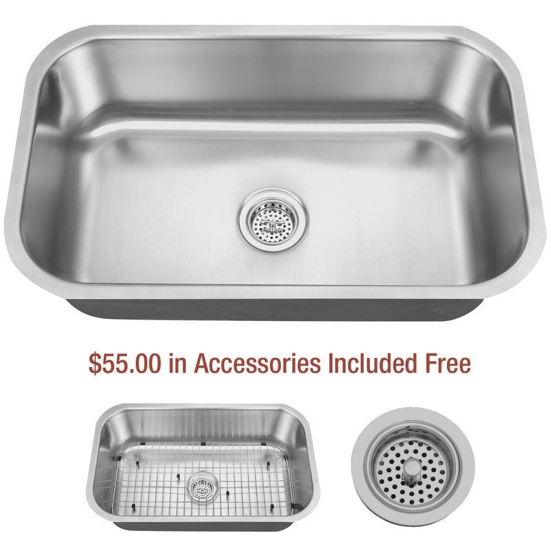 View The Delacora Dss3018c 30 Undermount Single Basin Stainless