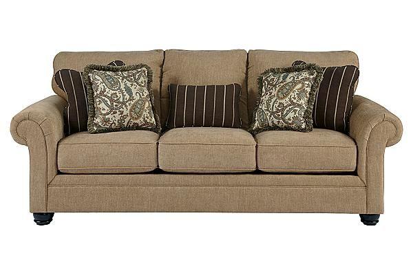 The Davora Caramel Queen Sofa Sleeper From Ashley