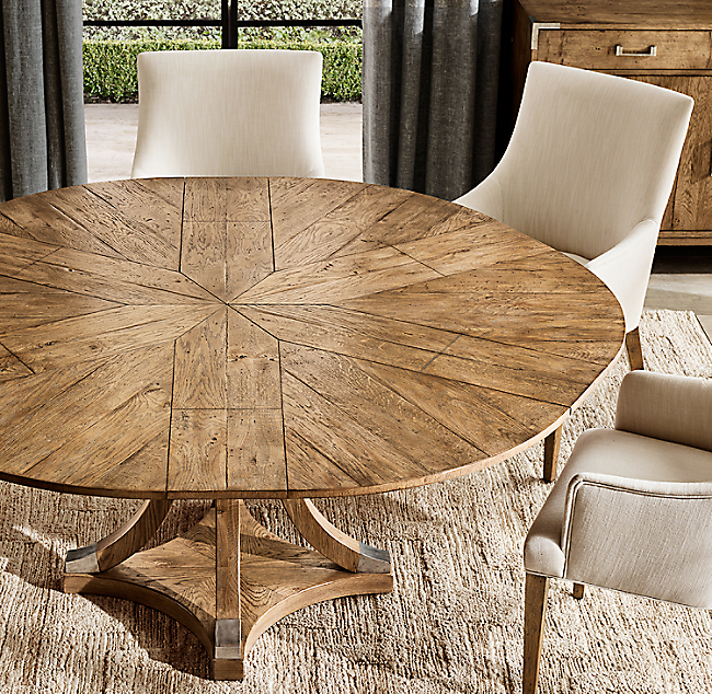 Addison Round Jupe Extension Dining Table Extension Dining Table