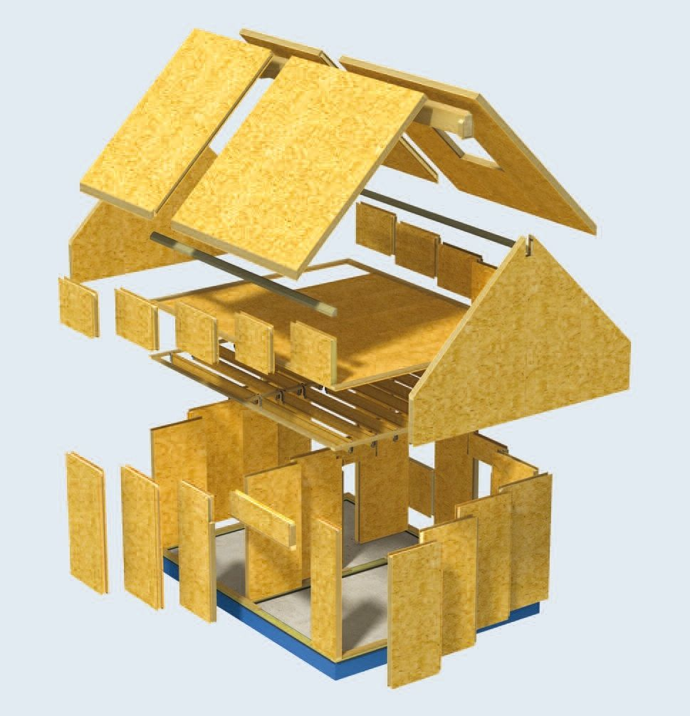 Oak Frame And Sips Structural Insulated Panels Sips Panels Insulated Panels