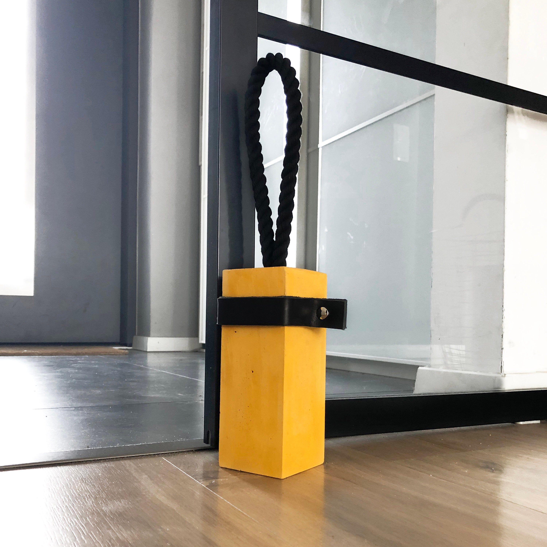 Concrete Door Stop Door Stopper Rectangle Door Stop Etsy In 2020 Door Stopper Door Stop Leather Decor