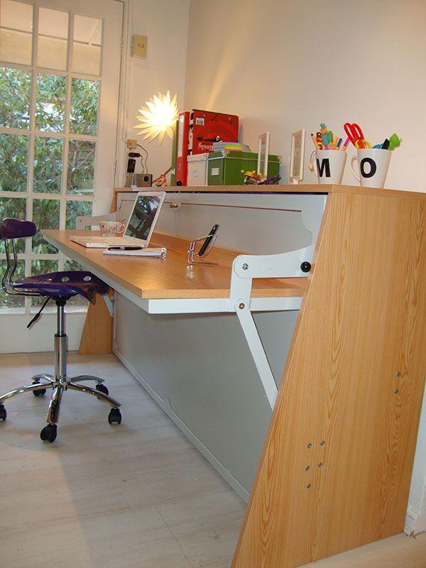 Si buscas una cama m gica esta cama escritorio servir - Fabricar cama abatible ...