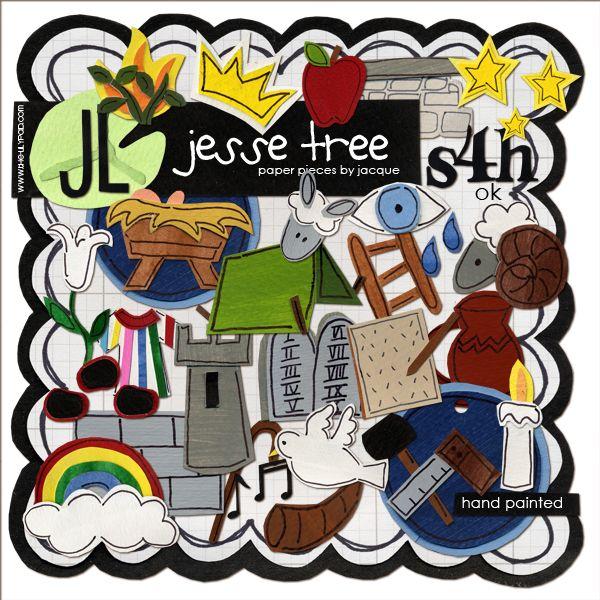 Jesse Tree Printable Symbols By Jacque 249 Christmas Pinterest