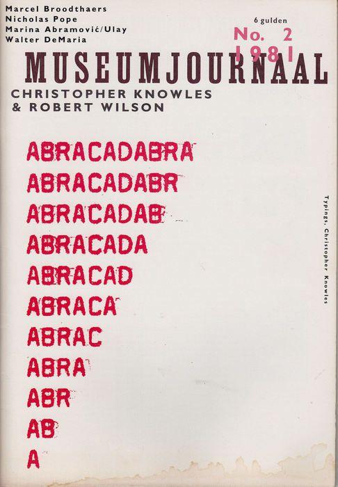 Museumjournaal 2 '81 abracadabra