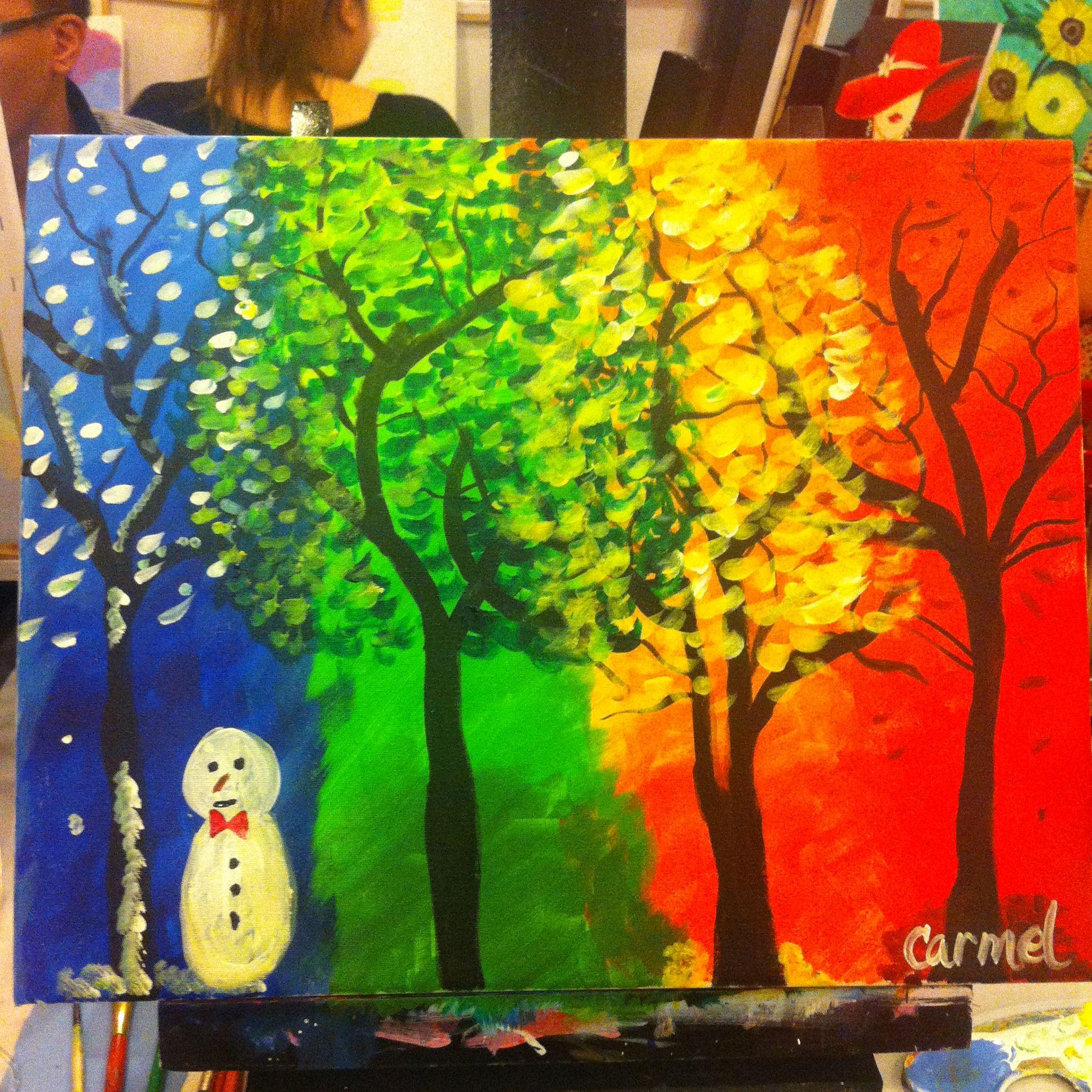 four seasons sip and gogh  idee farbe gemälde auf