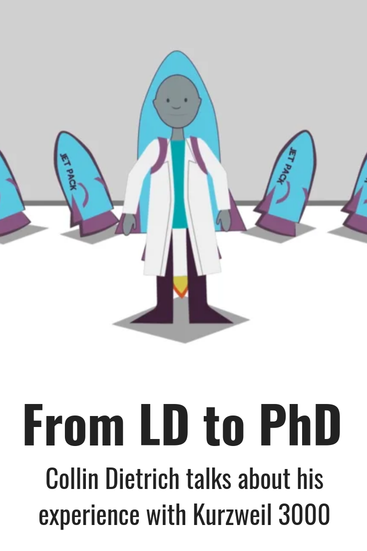 Dr Collin Dietrich Talks About His Experience Of Overcoming Learning Challenges And Earning A Doctorate De Learning Disabilities Learning Assistive Technology