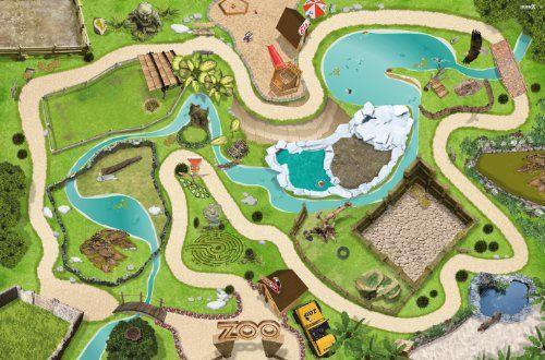 Tierpark / Zoo Spielmatte (Spielteppich) für das