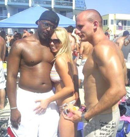 White Couple Black Bull White Couple With Their