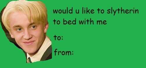 For The Malfoy Girls Harry Potter Valentines Funny Valentines Cards Harry Potter Valentines Cards