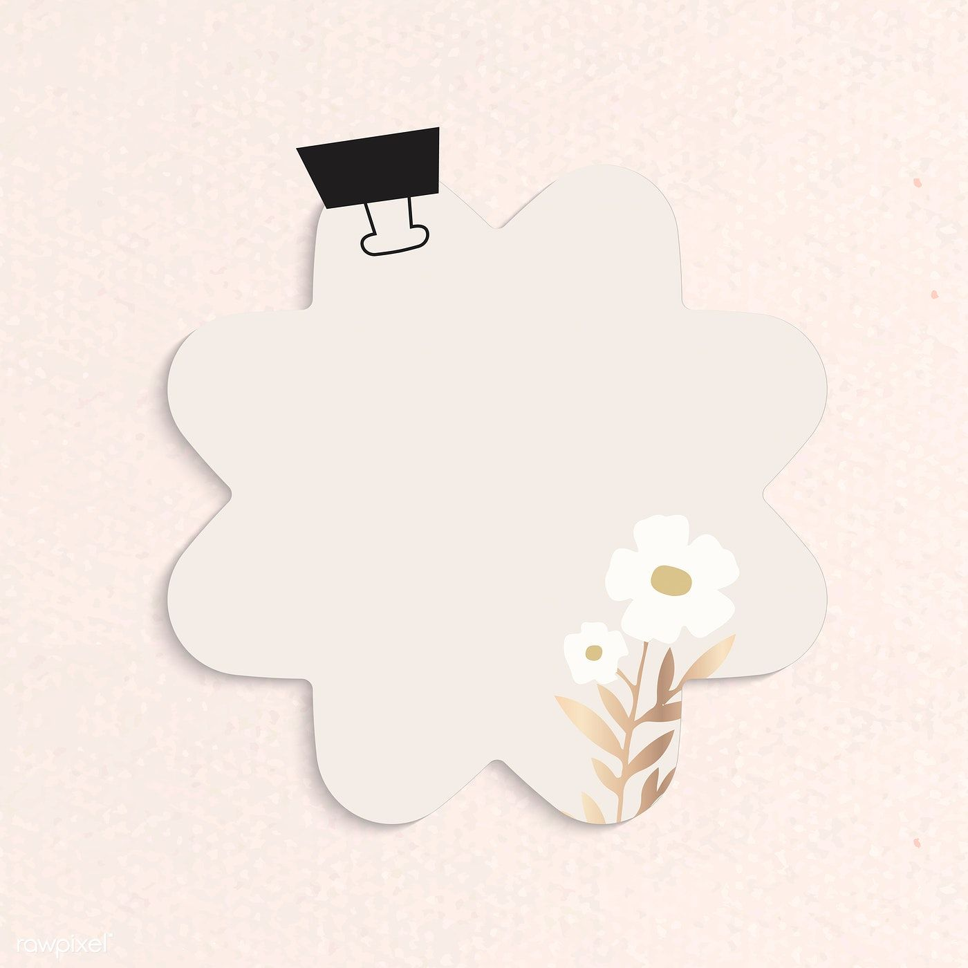 Download Premium Vector Of Blank Flower Shape Notepaper