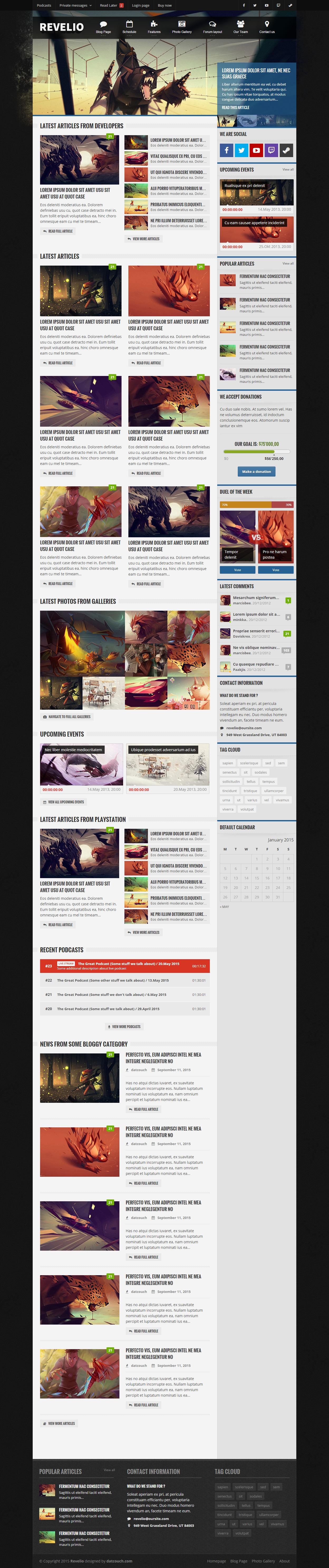 Revelio is Premium Responsive Gaming HTML5 Template. Retina Ready ...