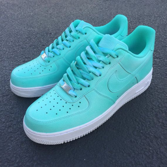 087a1e1b13f3 Custom Nike Air Force 1 Low Tiffany Teal FREE by 2niceCustoms