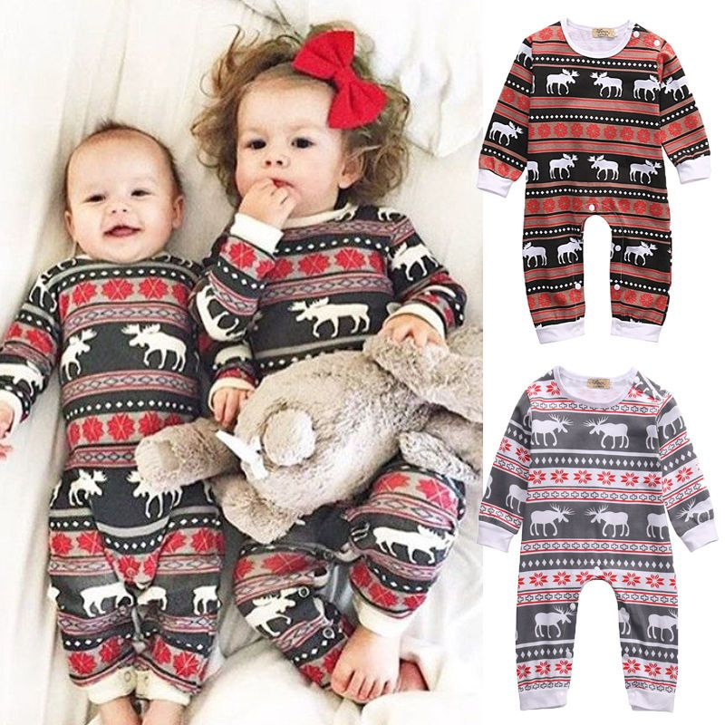 Christmas Family Pajamas Set.Christmas Family Pajamas Set Kids Baby Infant Romper Deer