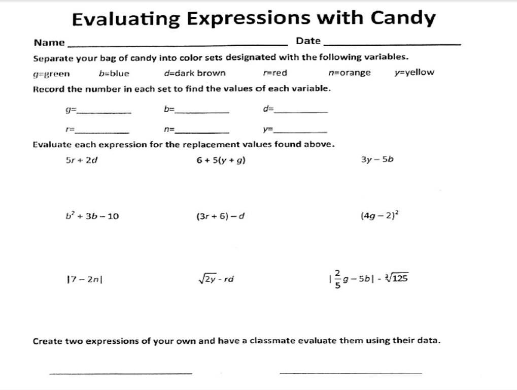 evaluating expressions worksheet free worksheets library download and print worksheets free. Black Bedroom Furniture Sets. Home Design Ideas