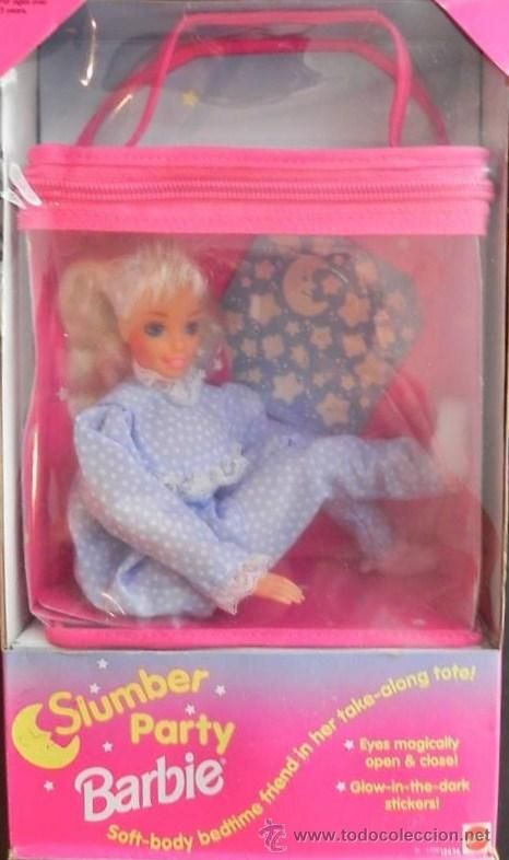 Slumber Party Barbie ... Had her, the eyes closed somehow, possibly with water?