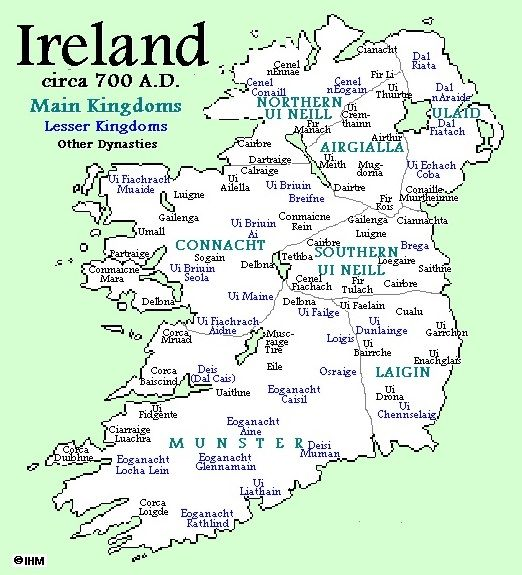 Ireland Circa 700 Ad Showing Eile In North Eastern Munster