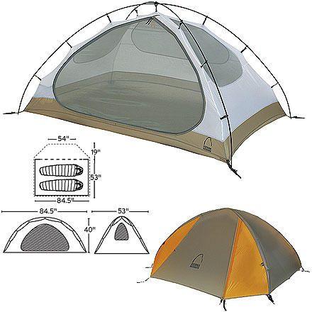 Sierra Designs Lightning Tent 2-Person 3-Season Packed Size 6 x 24in  sc 1 st  Pinterest & Sierra Designs Lightning Tent 2-Person 3-Season Packed Size: 6 x ...