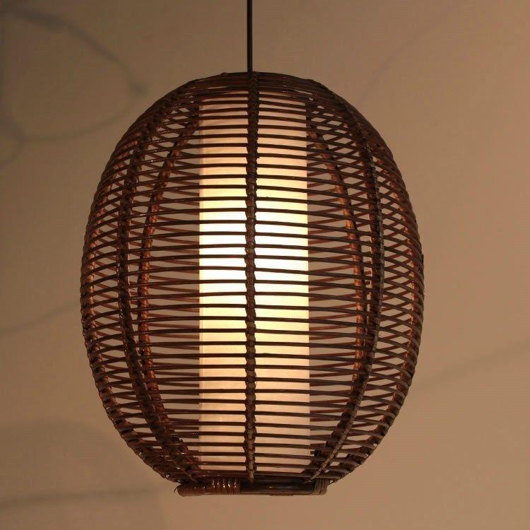 Rattan Nuts Restaurant Ceiling Pendant Lamp Balcony Chandelier Light Fixtures Pendant Light Pendant Ceiling Lamp Pendant Light Fixtures