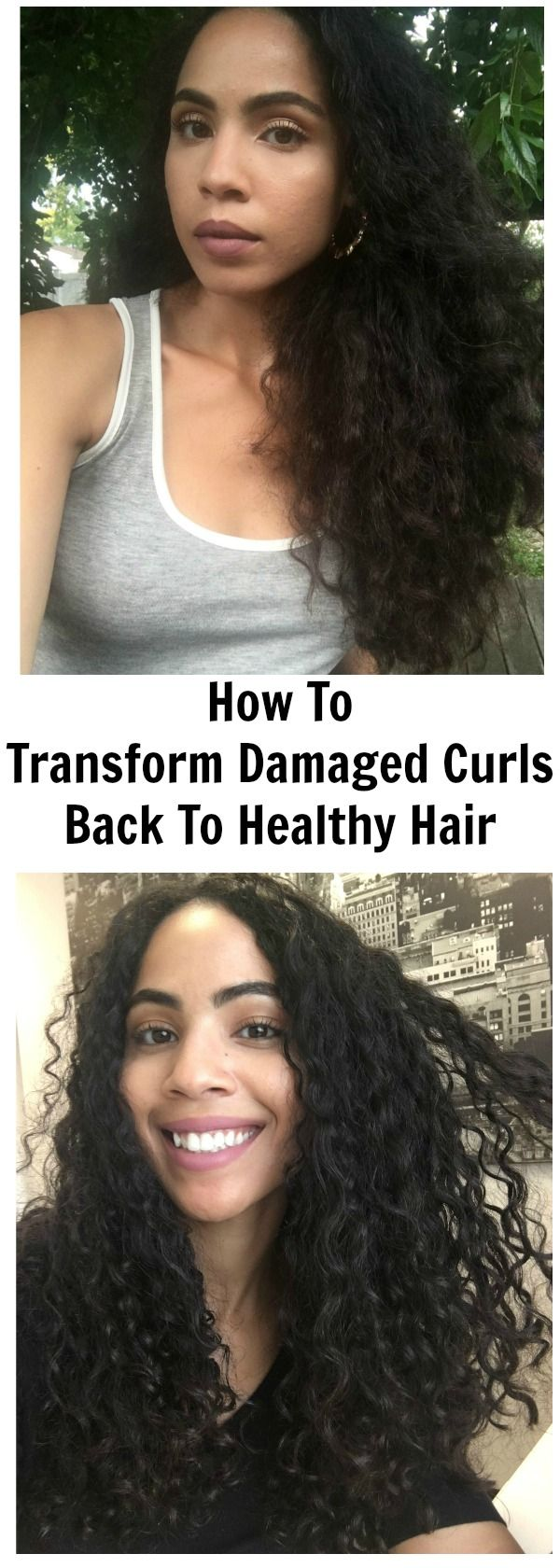 How To Get Rid Of Damaged Curly Hair Here Are 6 Basic Ways You Can Transform Damaged Curly Hair Damaged Curly Hair Curly Hair Styles Heat Damaged Natural Hair