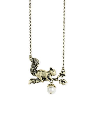 Another great find on zulily goldtone squirrel acorn pendant goldtone squirrel acorn pendant necklace zulilyfinds mozeypictures Image collections