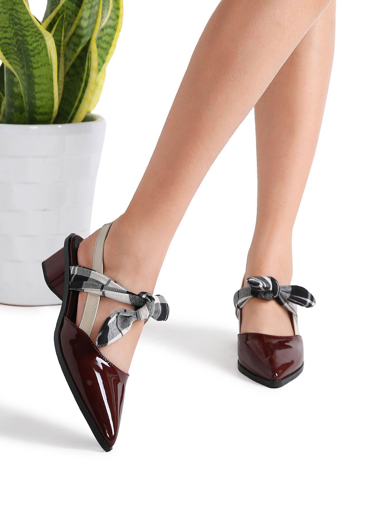 Tacones negros de punta estrecha con diseño de serpiente Zapatos sin cordones de mujer nS8nODDw